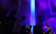 Conor Oberst playing in an old Presbyterian Cathedral